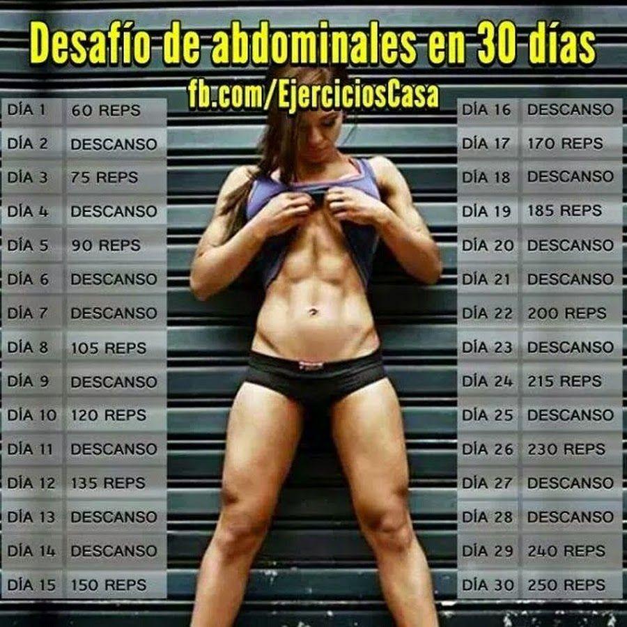 Para dias 30 abdomen rutina en marcado