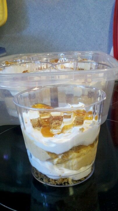 Pumpkin Trifle- travel friendly servings