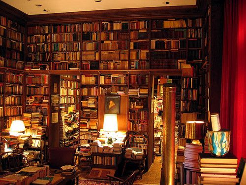 """I would be in heaven right here. The scent of the books, the coziness of the room and the """"who cares"""" about the clutter attitude:)"""