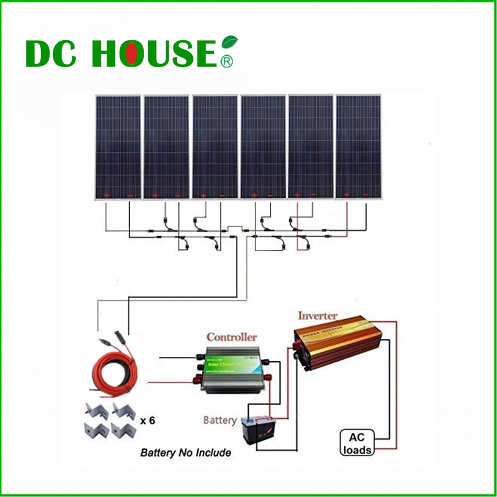 1212 46 Watch Now Http Alidq8 Worldwells Pw Go Php T 32781106138 Dc House Usa Uk Stock 6x160w Photov Off Grid Solar Solar Panel Kits Cool Things To Buy