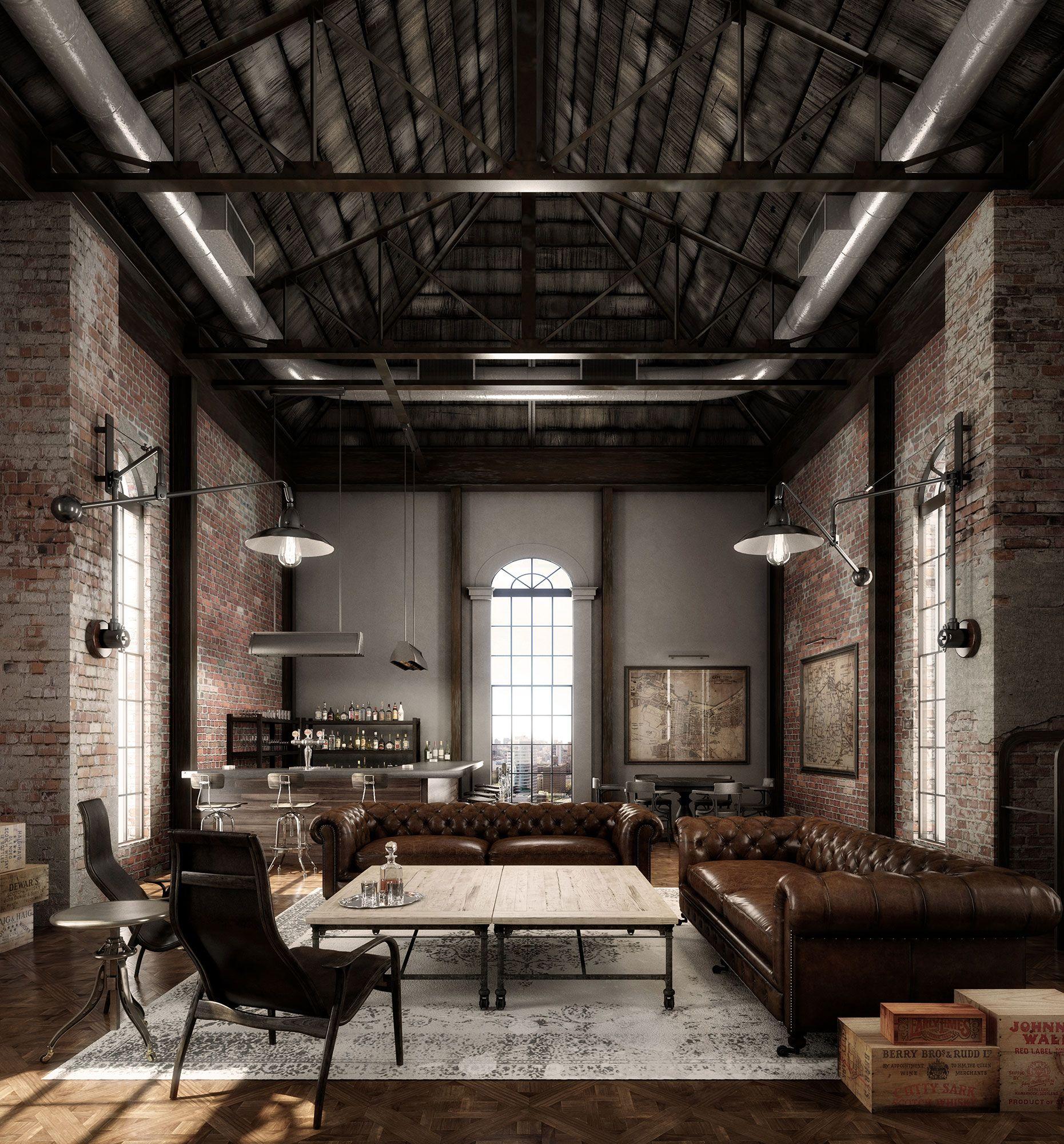 Urban industrial interior design modern interiors estilo also pin by laphaun barrington on custom built homes home decor loft rh pinterest