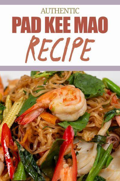 pad kee mao or drunken noodles is one of the spiciest