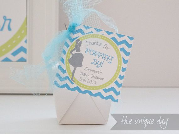favours Thank You Baby Shower Stickers Blue Elephant 35 Ready to Pop Boy
