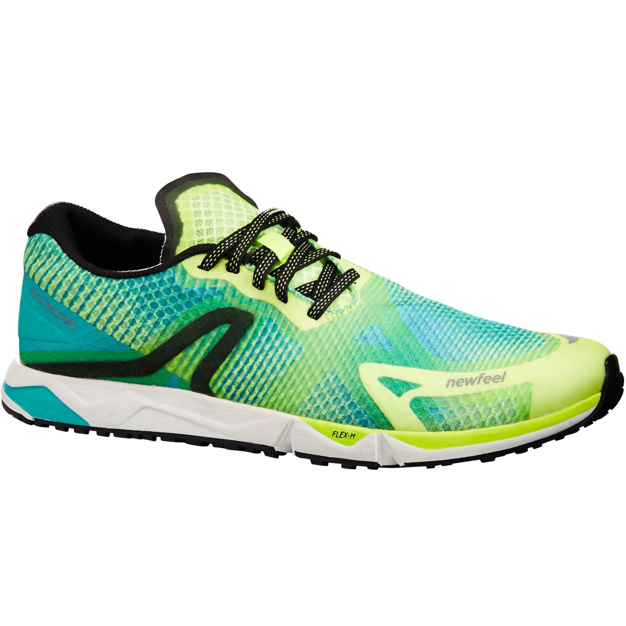 888b06b8300bb Chaussures de marche athlétique RW 900 jaunes et bleues | Newfeel ...