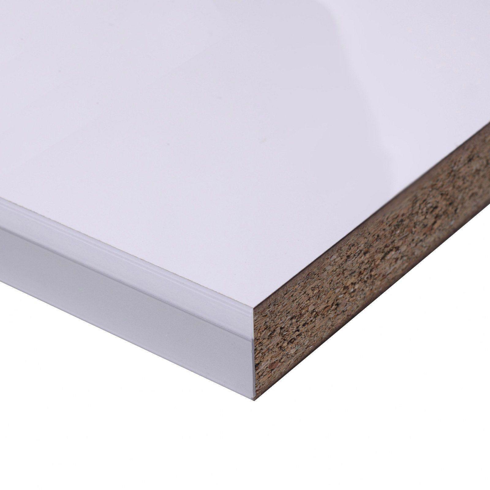 Plan De Travail Laminé plan de travail stratifié brillant l.315 x p.65 cm, ep.38 mm