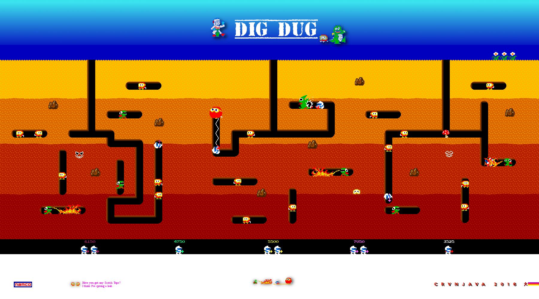 Dig Dug Arcade Game Wallpaper Gaming Pinterest Arcade Games
