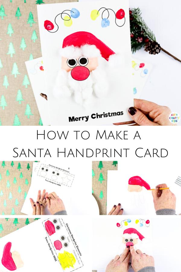 handprint christmas cards  handprint christmas cards diy
