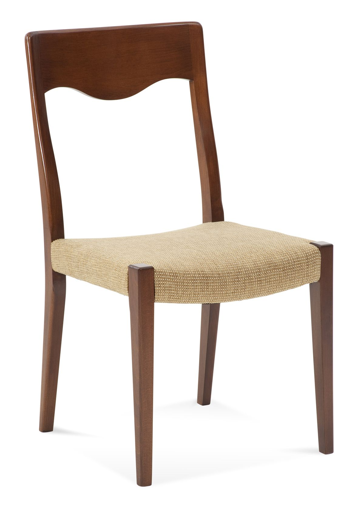 Saloom model 108 upholstered harvest custom dining chair with straw upholstery