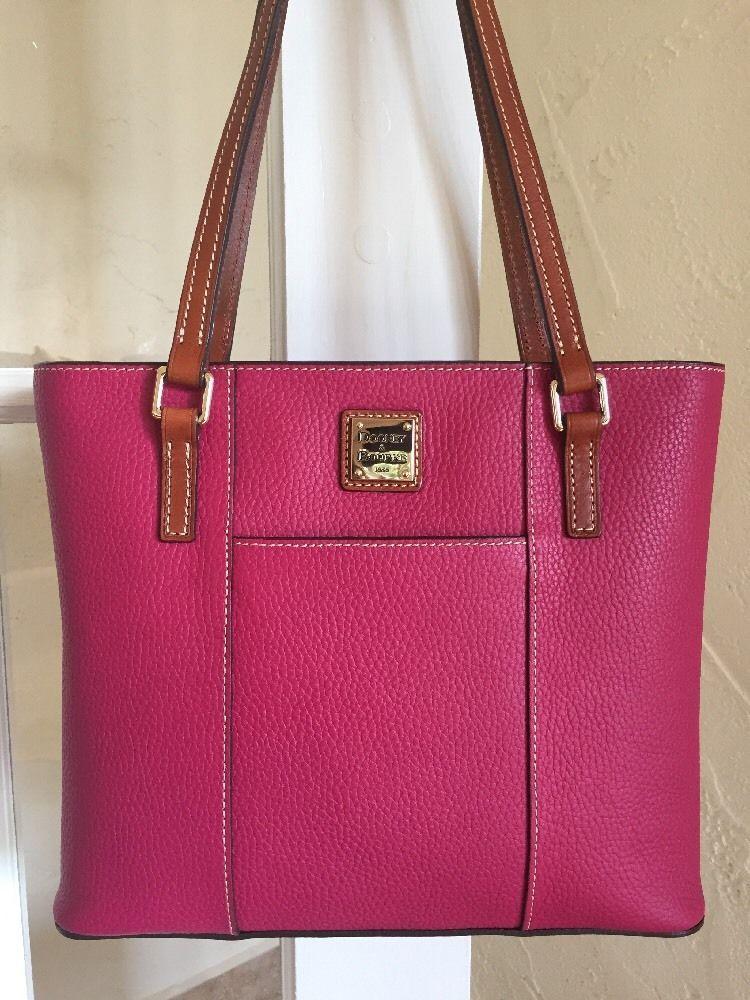 a413ac484136 Dooney Bourke Small Lexington Shopper Tote Strawberry Pebble Grain Leather