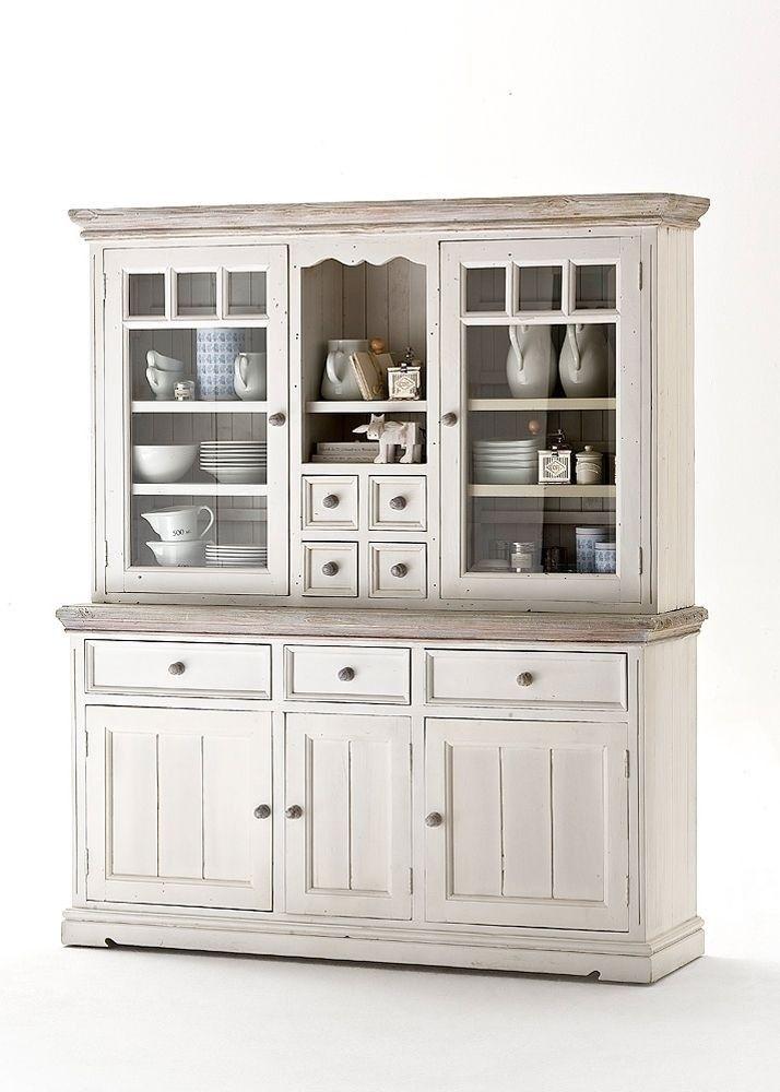 Buffet Landhaus Rafael Landhausmöbel Weiß Holz Kiefer massiv 5935 - kommode für küche