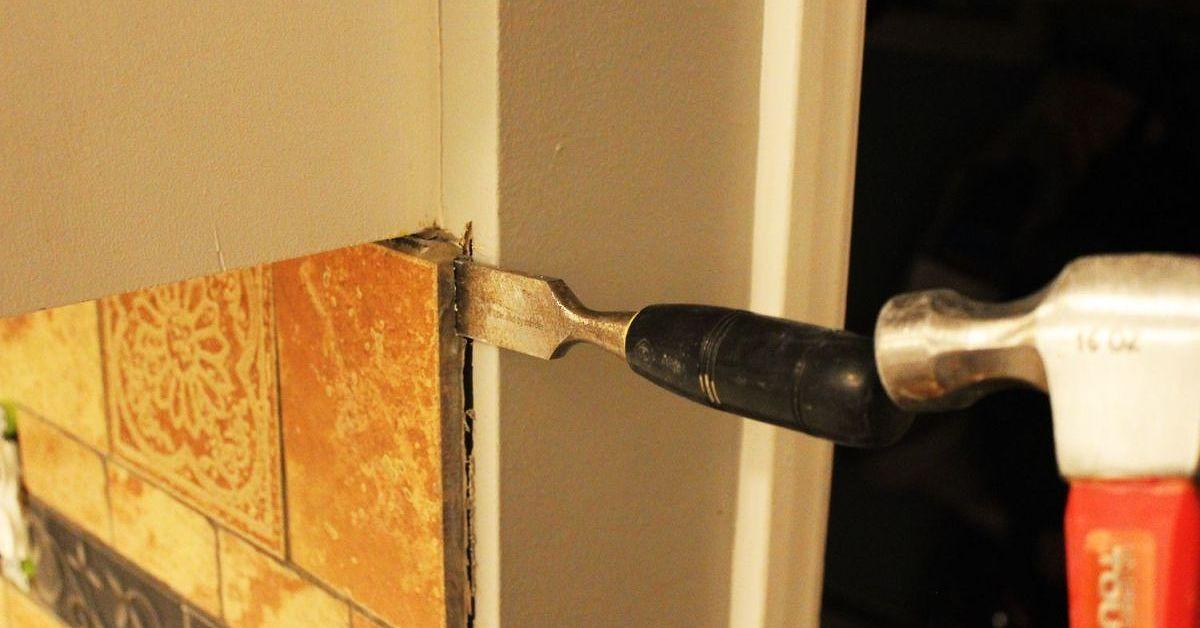 How to remove a kitchen tile backsplash remove tile
