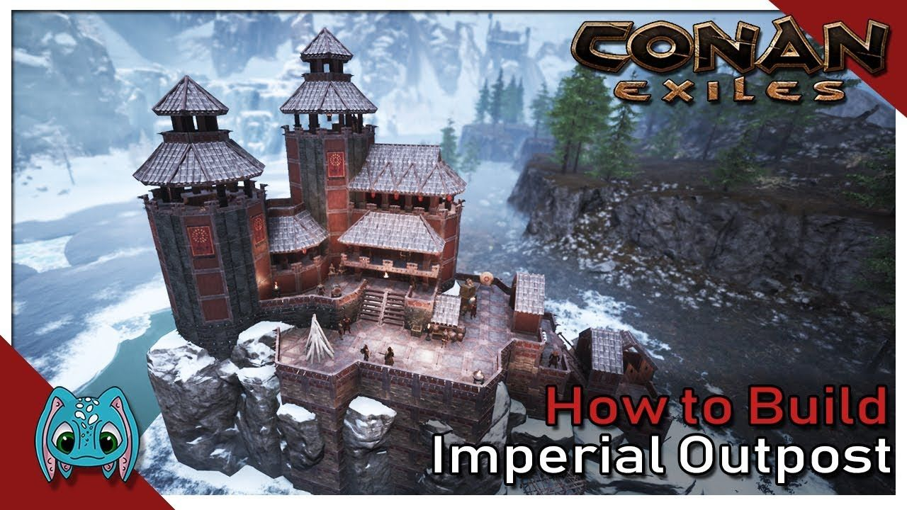 How To Build Imperial Outpost Conan Exiles Creative Building Pve Conan Exiles Conan Conan The Barbarian