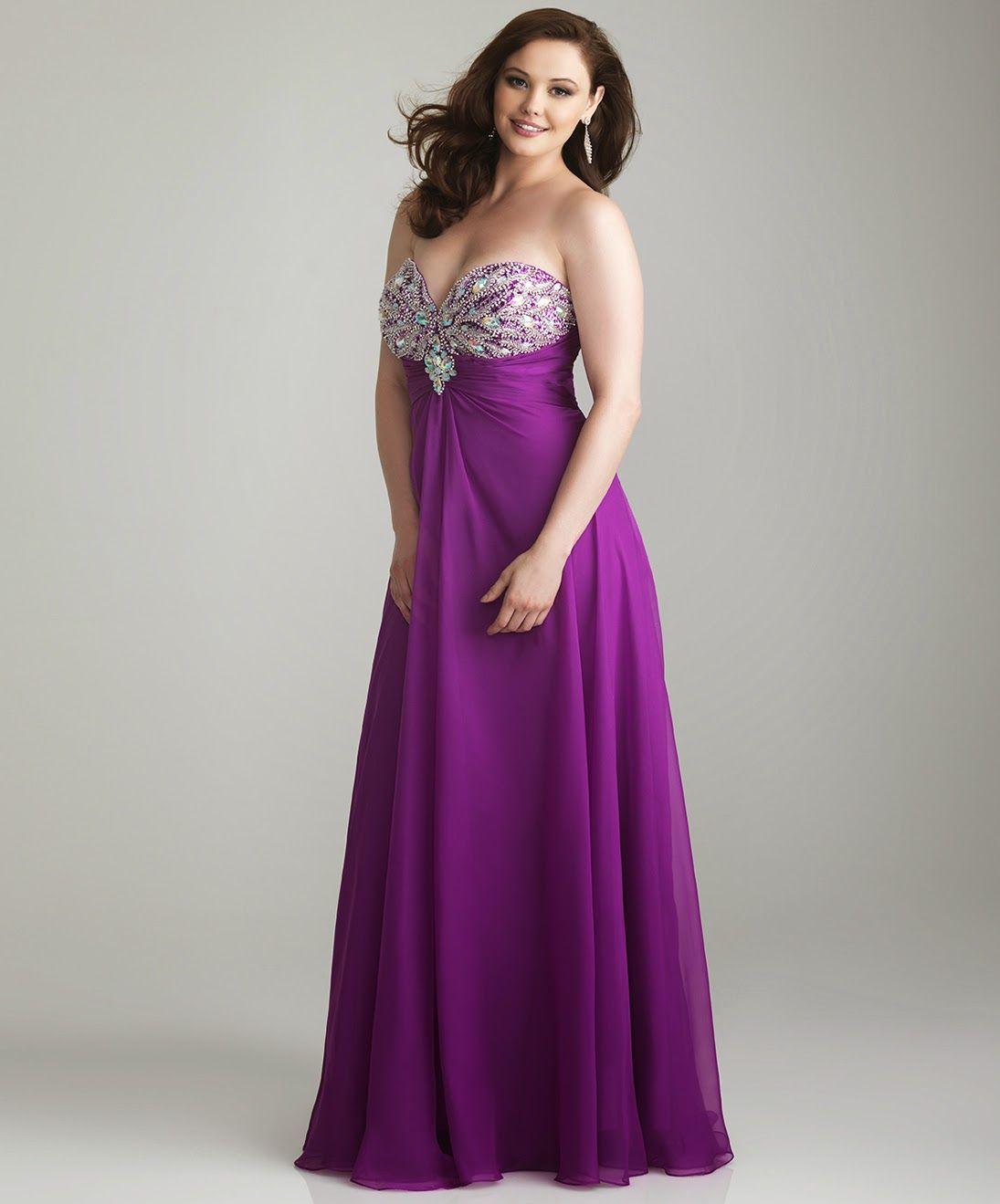 Choosing Plus Size Dresses for Prom | http://whatwomenloves.blogspot ...