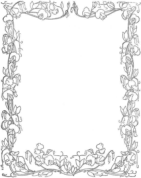 Floral Frames | Floral, Frame, Border pattern