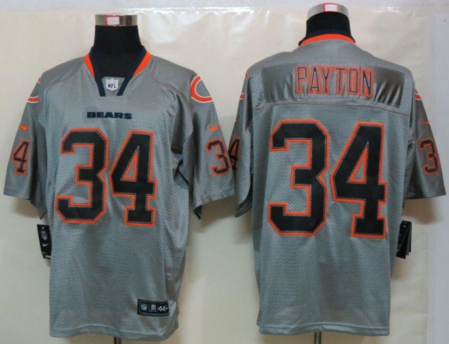 ab9ca9290 ... wholesale black nfl nike chicago bears walter payton lights out gray elite  jersey 31c6c 079e9