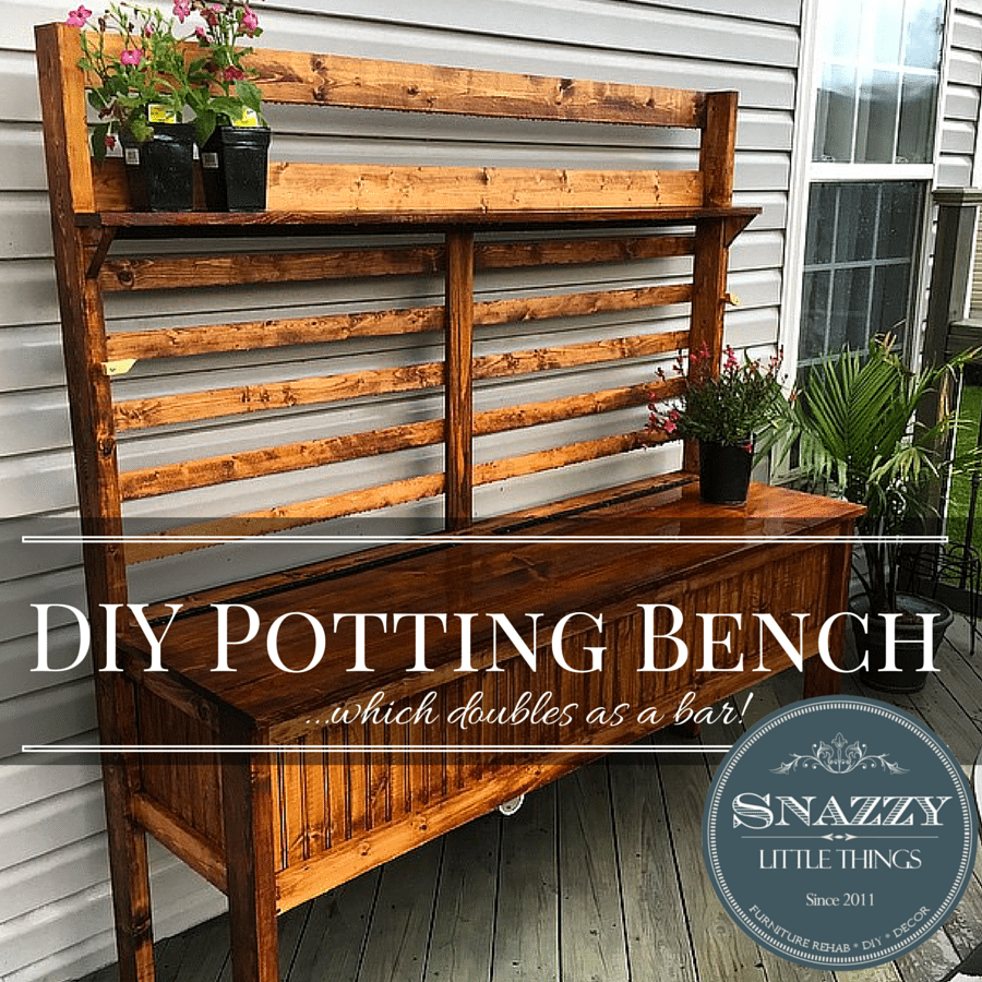 Gardening Bench Plans Part - 23: DIY POTTING BENCH PLANS Download Your Free Building Plans At Snazzy Little  Things #diy #