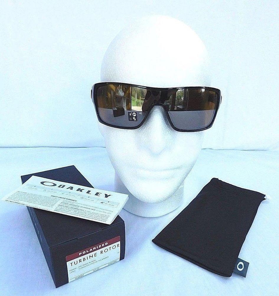 a6fc87b755 Oakley Turbine Rotor POLARIZED Sunglasses Polished Black Tungsten Iridium -  NWT  fashion  clothing  shoes  accessories  mensaccessories ...
