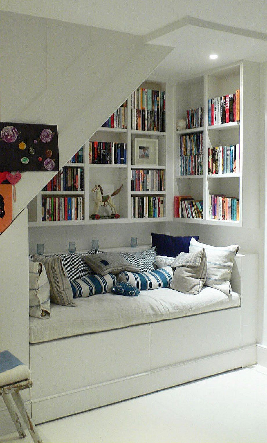 Under Stairs Storage Ideas Smart Bookshelf And Sofa Home Designs