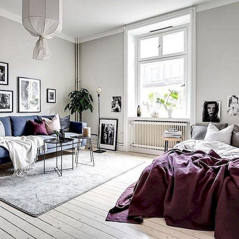 62 Awesome Stylish Scandinavian Studios Apartment Decorating Ideas Apartmentdecor Apart Bedroom Furniture Layout Studio Apartment Decorating Apartment Decor