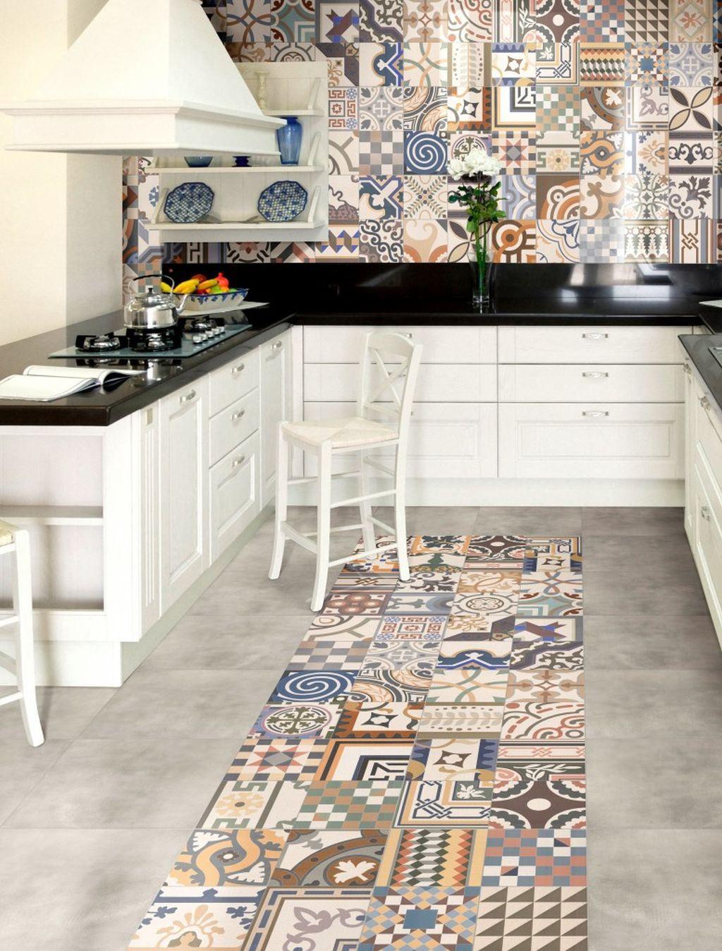плитка в стиле пэчворк кухонный фартук | Мару | Pinterest