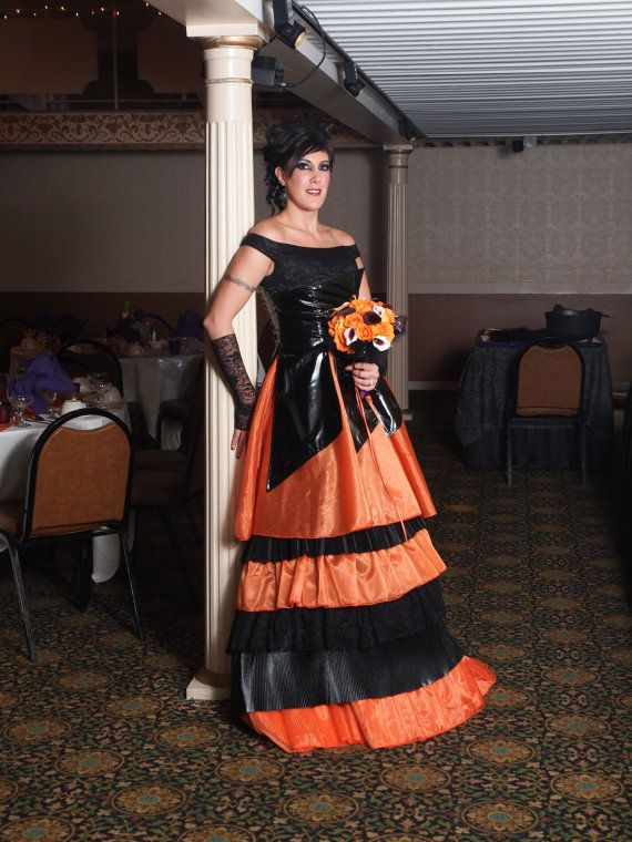 Orange and Black Wedding Dresses