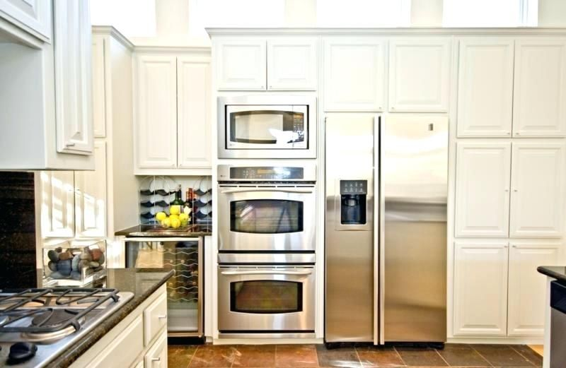 double wall oven with microwave above