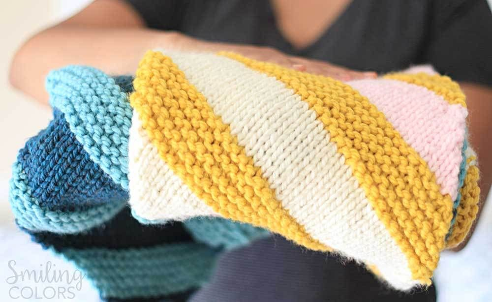How to Knit a corner to corner baby blanket with FREE ...