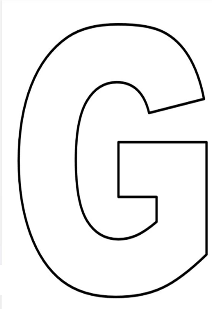 Resultado de imagem para molde de letra g   nivia   Pinterest ...
