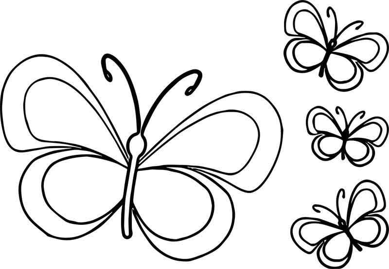 Funny Butterfly Cartoon Coloring Page in 2020   Cartoon ...