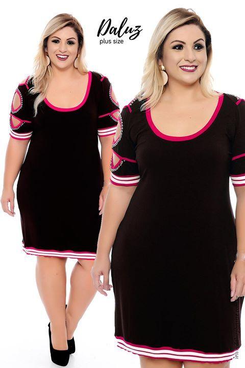b62912c3e6 Vestido Plus Size Pity - Coleção Outono Inverno Plus Size -  daluzplussize.com.br