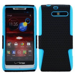 DragonCell [Black + Blue] 2 in 1 Hybrid Mesh Hard PC Plastic and Silicone Skin Gel Phone Case Cover Faceplate for Motorola DROID RAZR M Mini XT907 XT 907 (Verizon) - Screen Protector Film Included by DragonCell. $4.99. This 2 in 1 Hybrid Black / Blue case will keep your phone protected while leaving all the unnecessary bulk behind. Stay up with the latest trend by fashioning your phone with this 2 piece cover. Protecting your Motorola Droid Razr Mini XT907 has never been this eas...