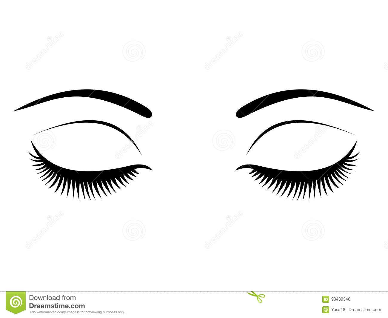 Closed eyes with black eyelashes on a white background download from over 68 million high quality stock photos images vectors sign up for free today