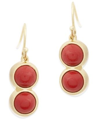 Luscious ruby red - perfect minimalist chic earrings.