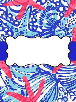 editable binder covers lilly pulitzer binder covers pinterest