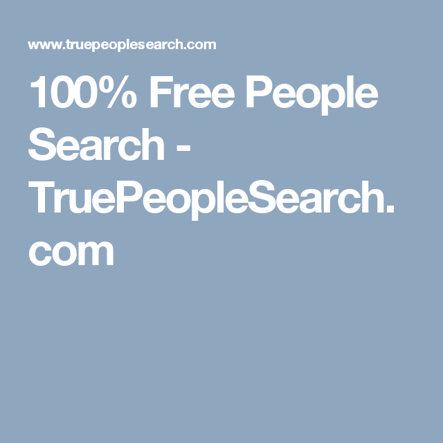 find information on people for free