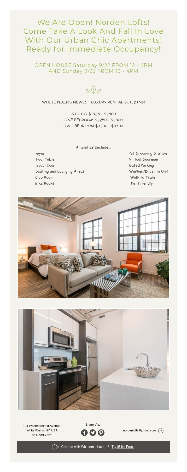 We Are Open Norden Lofts Come Take A Look And Fall In Love With Our Urban