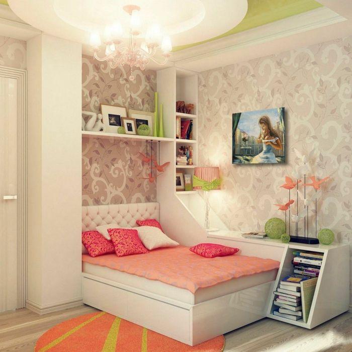 chambre fille ado déco couleur corail Deco Pinterest Room tour
