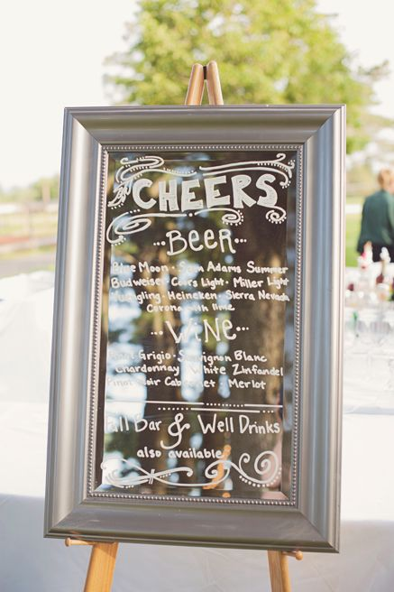 Painted Mirror - Write your ceremony program, seating chart