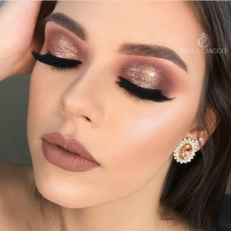pink bronze makeup look   Make   Maquiagem, Maquiagem ...