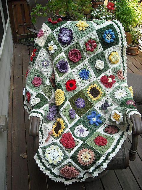 Catherine Carleson's flower sampler,with random flowers and colors. Very beautiful.