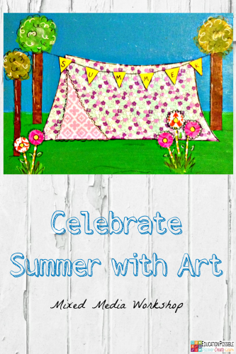 Celebrate Summer with Art: Mixed Media Workshop @Education Possible With longer days and lighter course loads (if any), summer is the perfect time to focus on art. This e-course will allow you to work on 20 different mixed media projects in your own home. Alisha will walk you, step-by-step, through each project. In fact, she does such a good job, that my older kids complete most of the art pieces on their own.