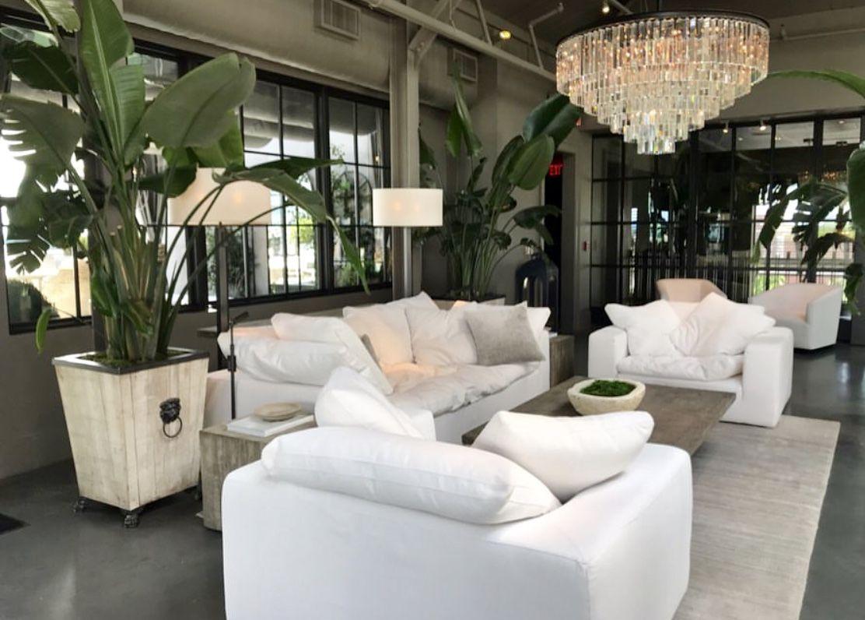 Modern Living Room Decor With Restoration Hardware Cloud Sofa