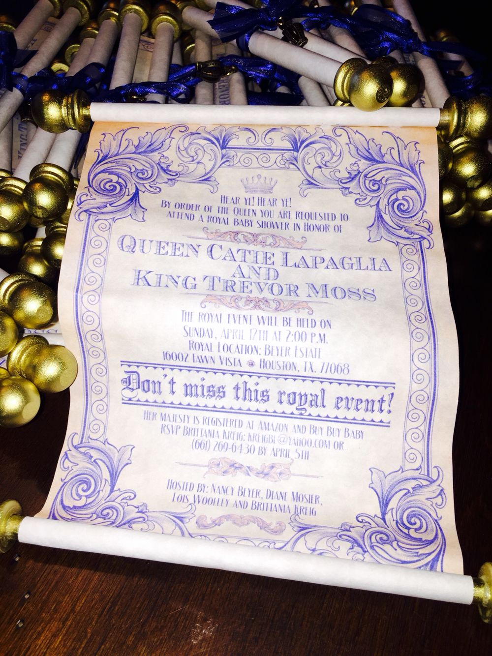 Royal prince baby shower scroll invitations party planning royal prince baby shower scroll invitations filmwisefo