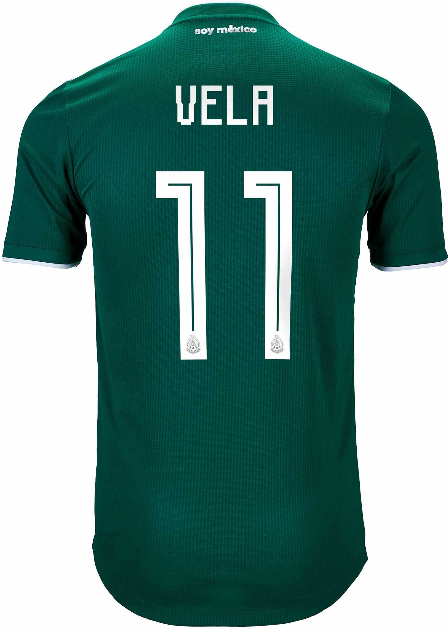 1c2877d1a Buy the 2018 19 authentic adidas Mexico Carlos Vela Home Jersey from www. soccerpro.com