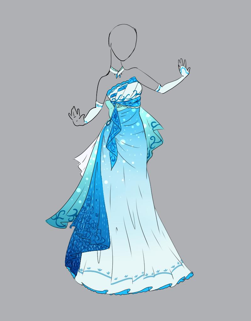 Картинки одежда аниме платья