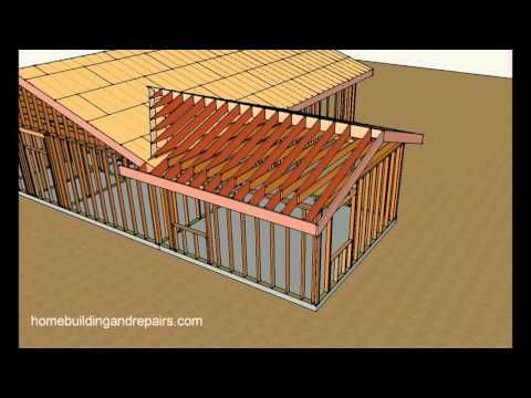 How To Connect Gable Roof Into Existing Gable Roof For Room Addition Youtube House Roof Roof Framing Porch Roof