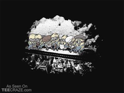 Minions On A Beam T-Shirt - http://teecraze.com/minions-on-a-beam-t-shirt/ -  Designed by Wear Viral