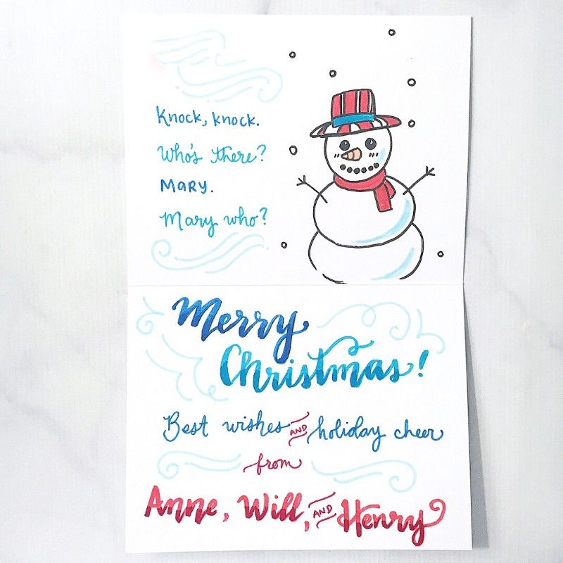 What To Write In Your Holiday Cards Holiday Cards Holiday Jokes Cards