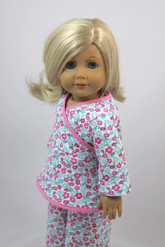 American Girl Doll Spring floral pajama set by dollpetitecouture