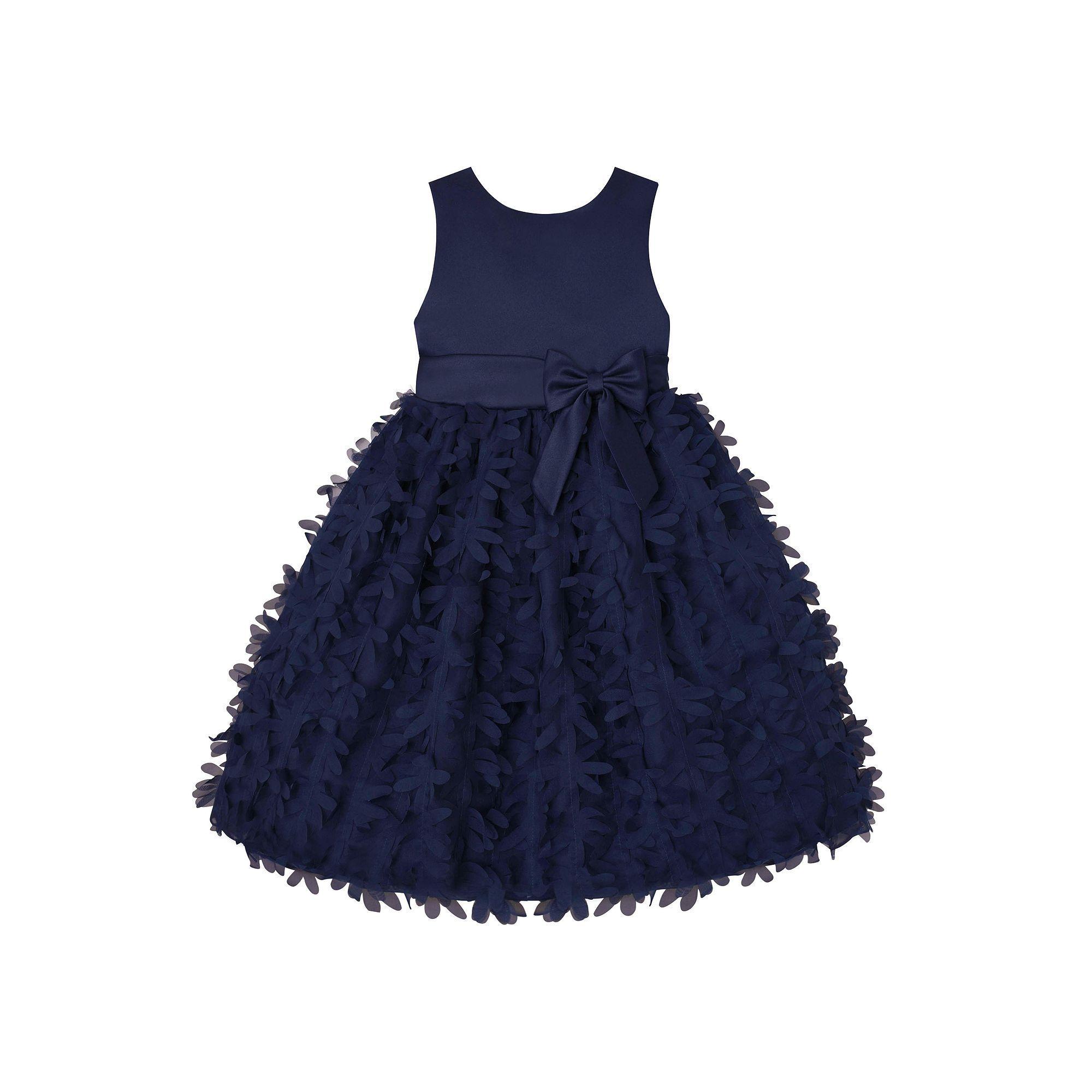ea713502a0158 Girls 7-16   Plus Size American Princess Petal Applique Dress ...